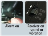Switch the alarm on again and now switch the lever on the receiver to either the S/On position if you want sound, or the V/On position if you just want vibration. You are now ready to fish.