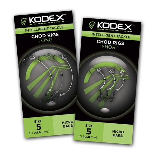 2pc pkt Barbless Size 8 KODEX Bottom/Pop-Up Anti-Tangle Braid Rigs